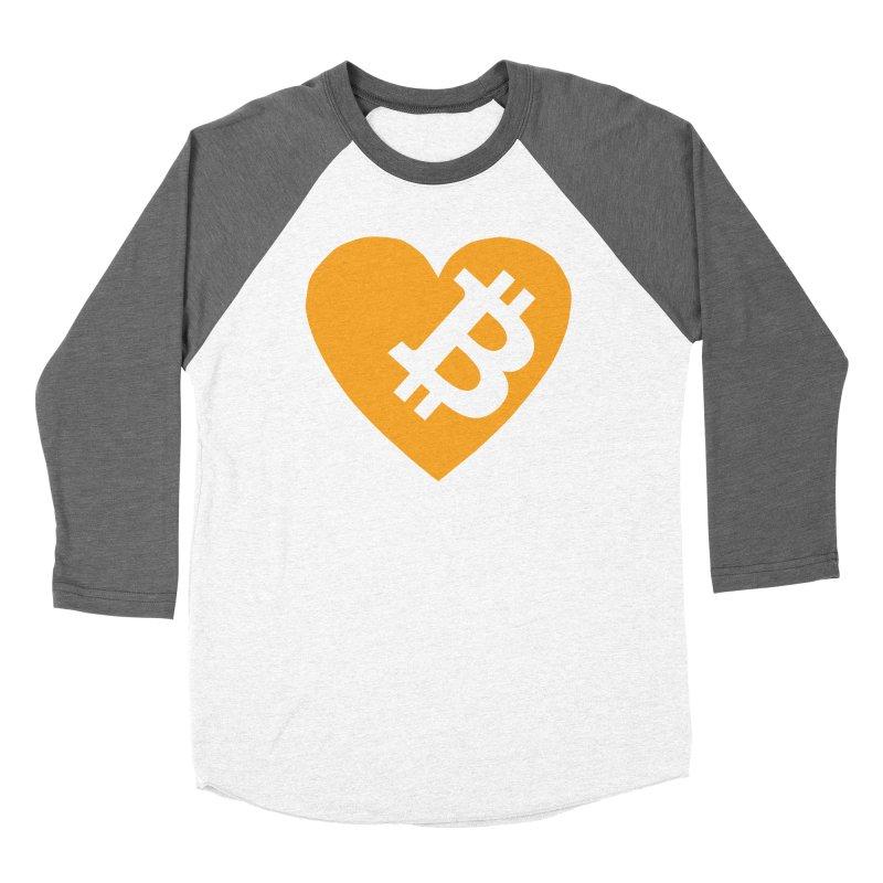 Love Bitcoin Men's Baseball Triblend Longsleeve T-Shirt by Crypt0 Clothing Shop