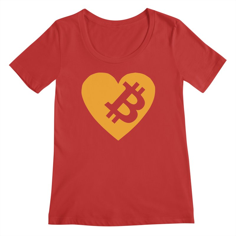 Love Bitcoin Women's Regular Scoop Neck by Crypt0 Clothing Shop