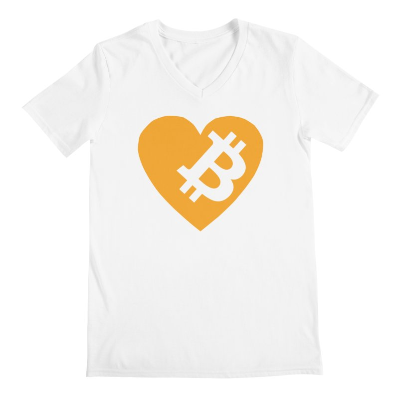 Love Bitcoin Men's Regular V-Neck by Crypt0 Clothing Shop