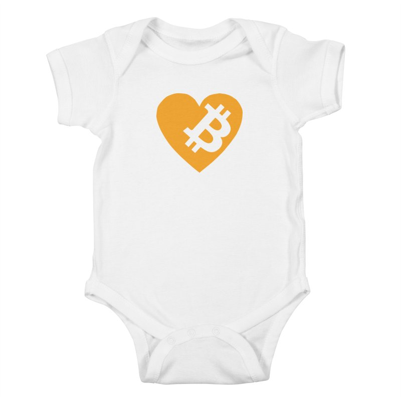 Love Bitcoin Kids Baby Bodysuit by Crypt0 Clothing Shop