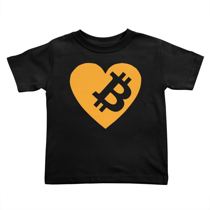 Love Bitcoin Kids Toddler T-Shirt by Crypt0 Clothing Shop