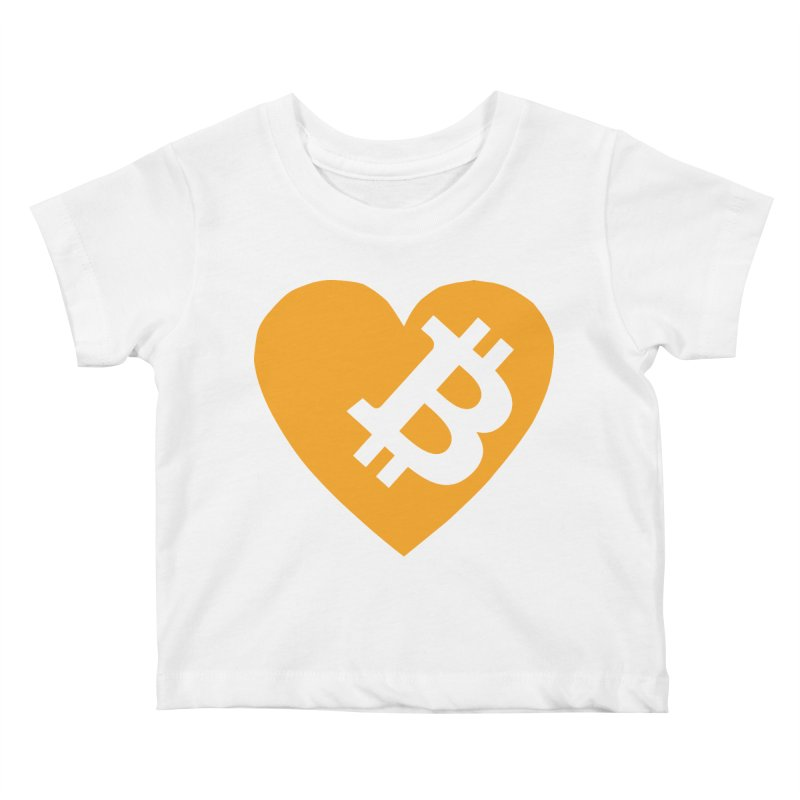 Love Bitcoin Kids Baby T-Shirt by Crypt0 Clothing Shop