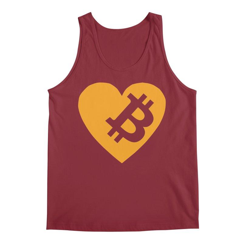 Love Bitcoin Men's Regular Tank by Crypt0 Clothing Shop