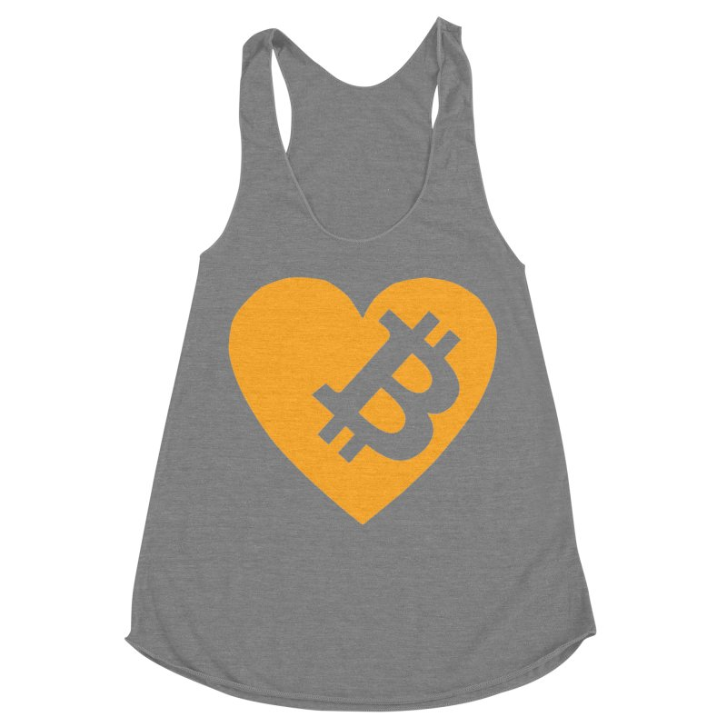 Love Bitcoin Women's Racerback Triblend Tank by Crypt0 Clothing Shop