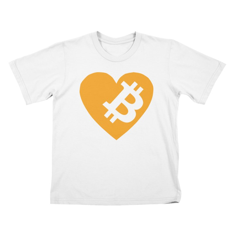 Love Bitcoin Kids T-Shirt by Crypt0 Clothing Shop