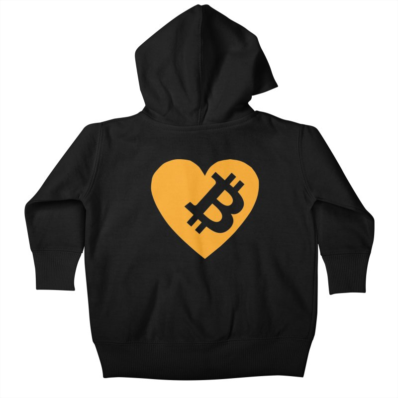 Love Bitcoin Kids Baby Zip-Up Hoody by Crypt0 Clothing Shop