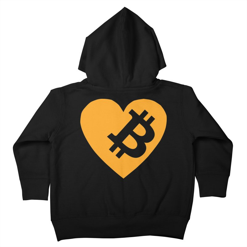 Love Bitcoin Kids Toddler Zip-Up Hoody by Crypt0 Clothing Shop