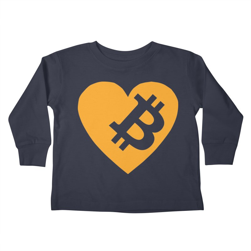 Love Bitcoin Kids Toddler Longsleeve T-Shirt by Crypt0 Clothing Shop