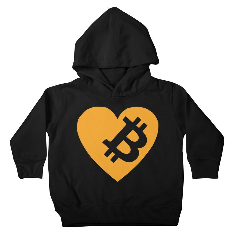 Love Bitcoin Kids Toddler Pullover Hoody by Crypt0 Clothing Shop