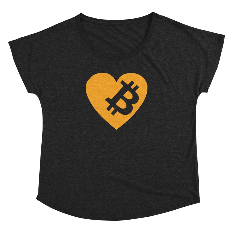 Love Bitcoin Women's Dolman Scoop Neck by Crypt0 Clothing Shop