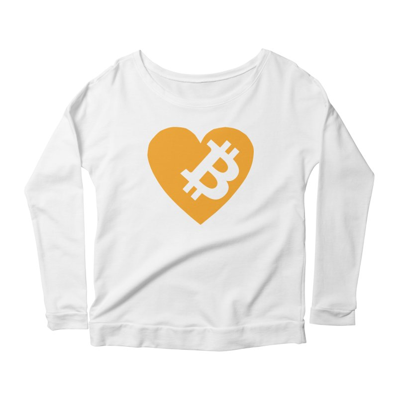Love Bitcoin Women's Scoop Neck Longsleeve T-Shirt by Crypt0 Clothing Shop