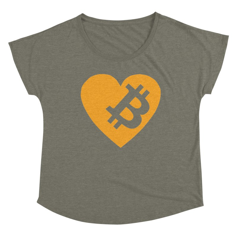 Love Bitcoin Women's Scoop Neck by Crypt0 Clothing Shop