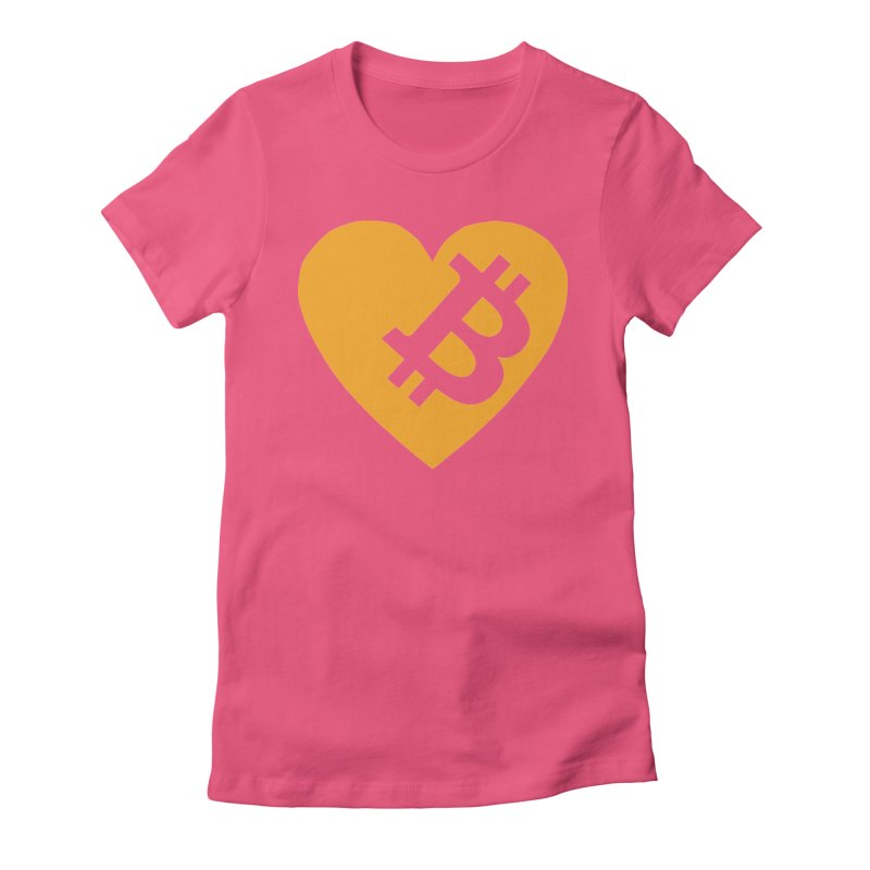 Love Bitcoin Women's T-Shirt by Crypt0 Clothing Shop