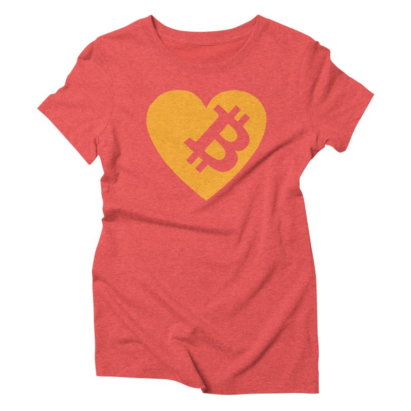 Love Bitcoin Women's Triblend T-Shirt by Crypt0 Clothing Shop