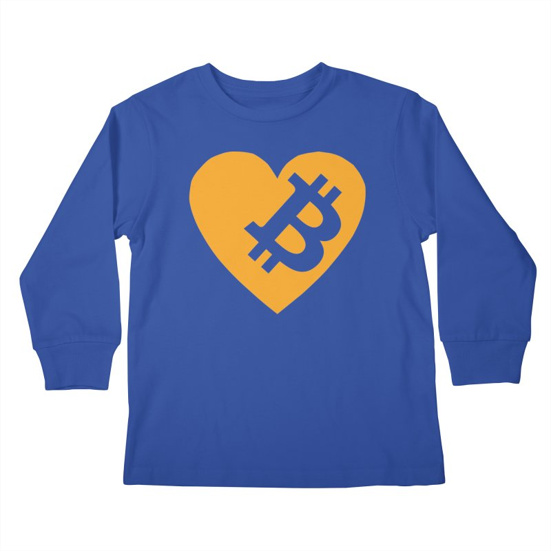 Love Bitcoin Kids Longsleeve T-Shirt by Crypt0 Clothing Shop