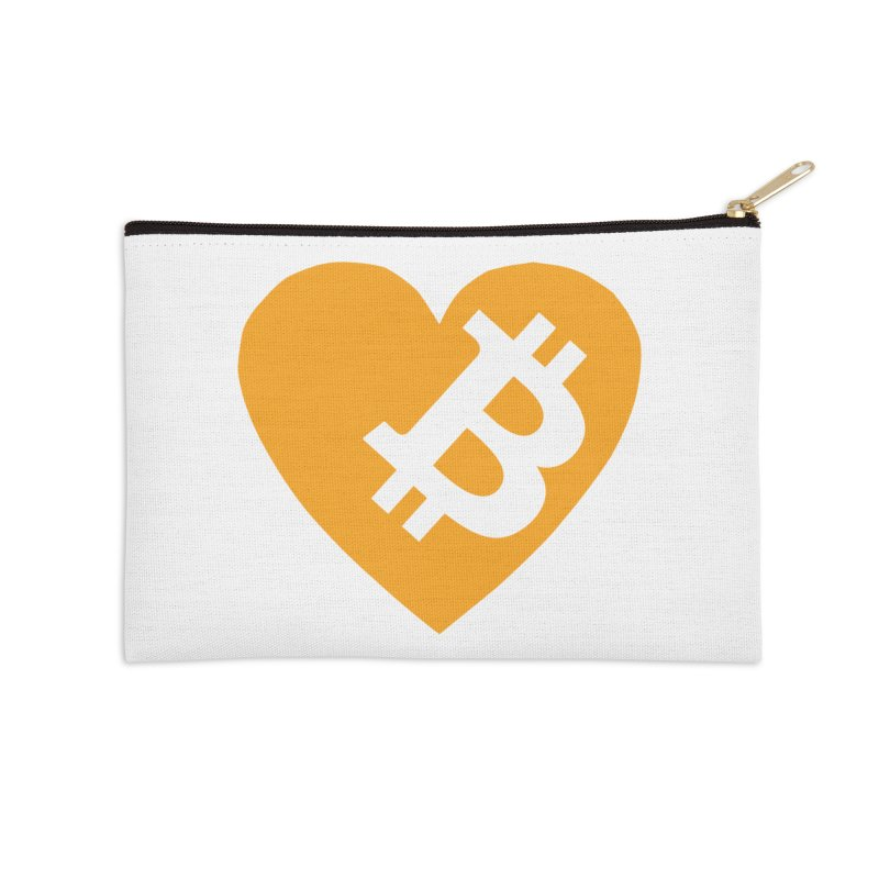 Love Bitcoin Accessories Zip Pouch by Crypt0 Clothing Shop