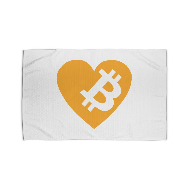 Love Bitcoin Home Rug by Crypt0 Clothing Shop
