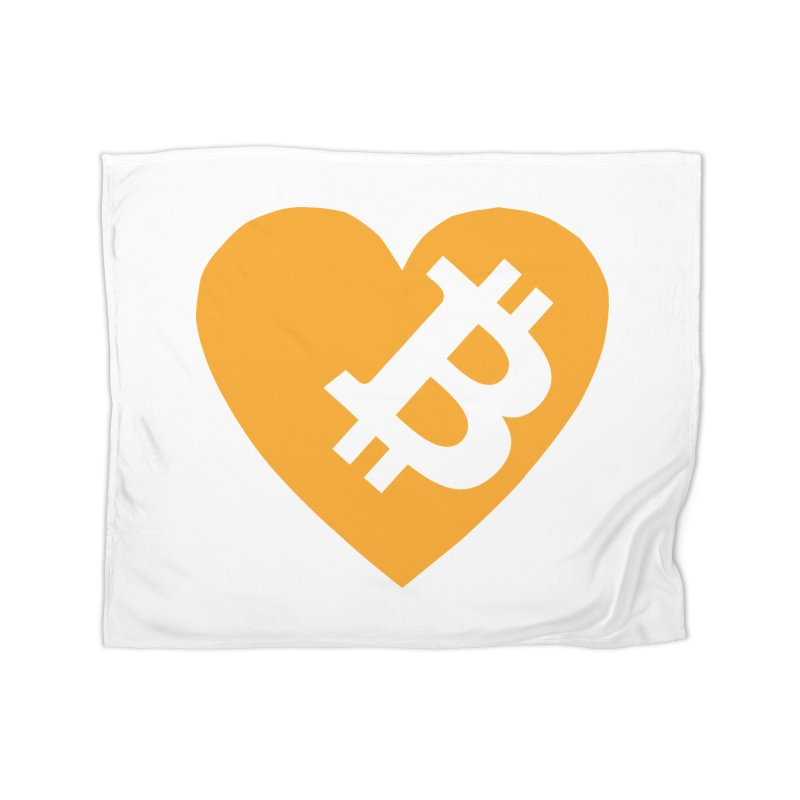 Love Bitcoin Home Blanket by Crypt0 Clothing Shop