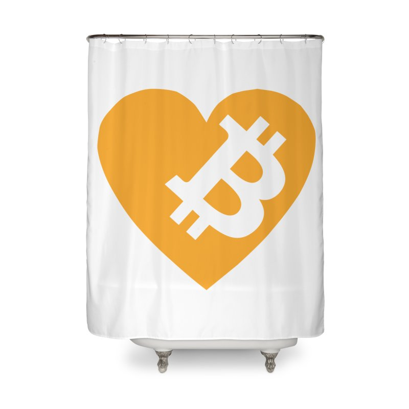 Love Bitcoin Home Shower Curtain by Crypt0 Clothing Shop