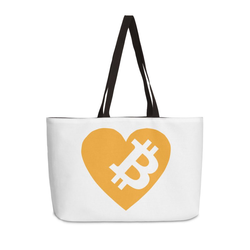Love Bitcoin Accessories Weekender Bag Bag by Crypt0 Clothing Shop
