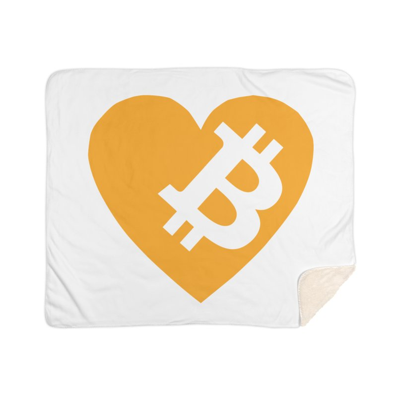 Love Bitcoin Home Sherpa Blanket Blanket by Crypt0 Clothing Shop