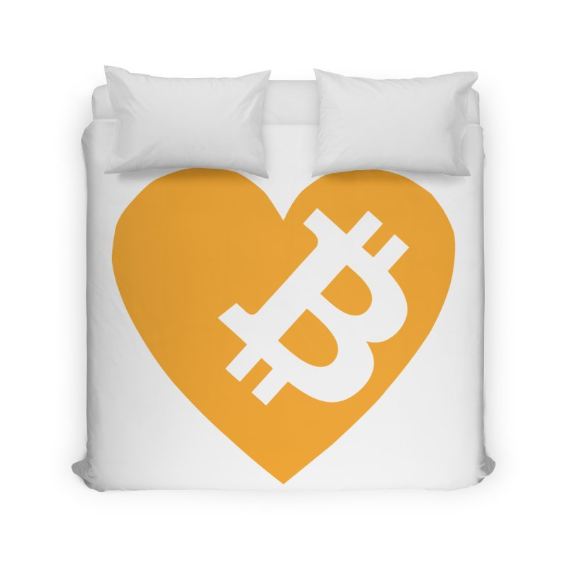Love Bitcoin Home Duvet by Crypt0 Clothing Shop