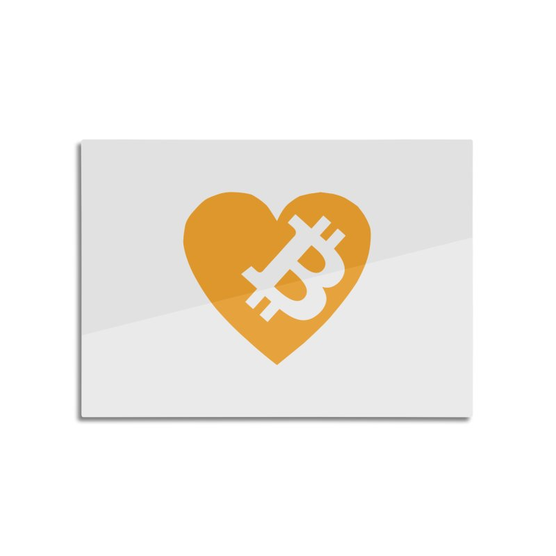 Love Bitcoin Home Mounted Aluminum Print by Crypt0 Clothing Shop
