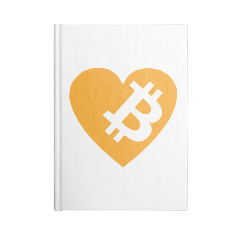 Love Bitcoin Accessories Lined Journal Notebook by Crypt0 Clothing Shop