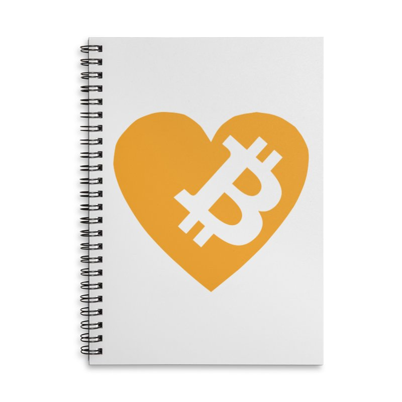 Love Bitcoin Accessories Lined Spiral Notebook by Crypt0 Clothing Shop