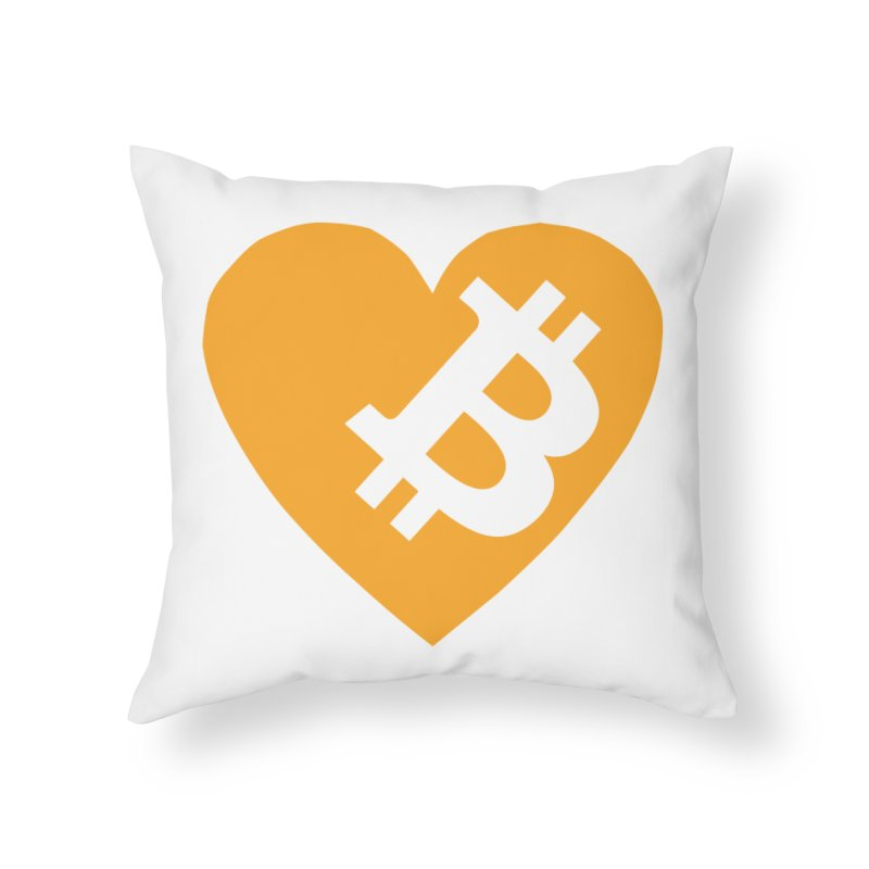 Love Bitcoin Home Throw Pillow by Crypt0 Clothing Shop