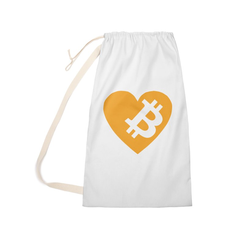 Love Bitcoin Accessories Laundry Bag Bag by Crypt0 Clothing Shop