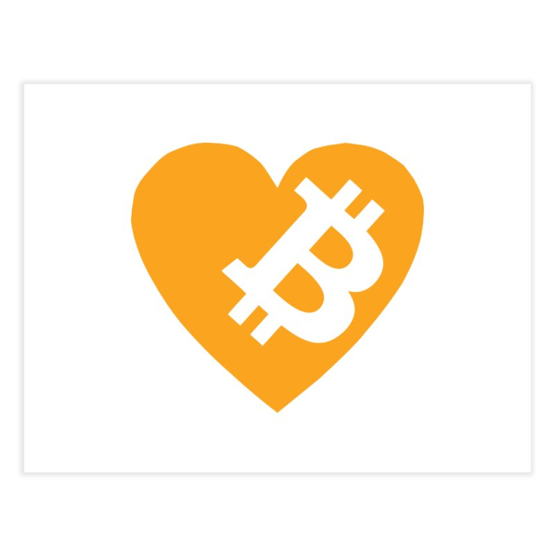 Love Bitcoin Home Fine Art Print by Crypt0 Clothing Shop