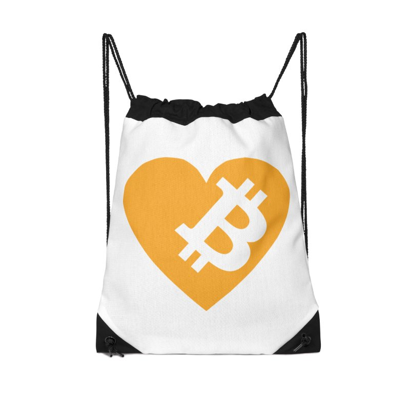 Love Bitcoin Accessories Drawstring Bag Bag by Crypt0 Clothing Shop