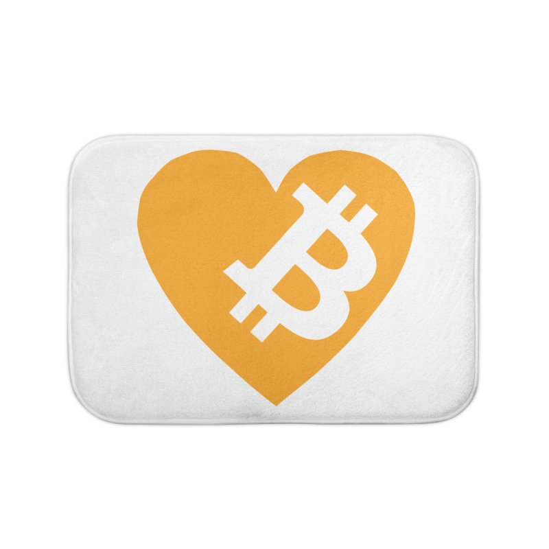 Love Bitcoin Home Bath Mat by Crypt0 Clothing Shop