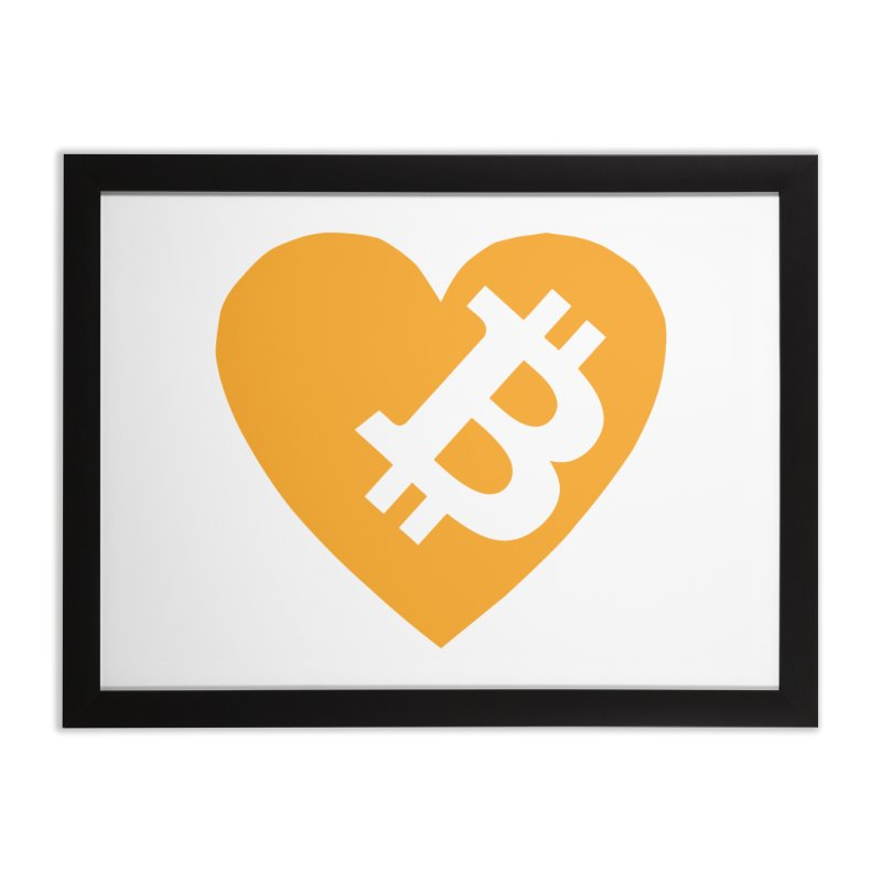 Love Bitcoin Home Framed Fine Art Print by Crypt0 Clothing Shop