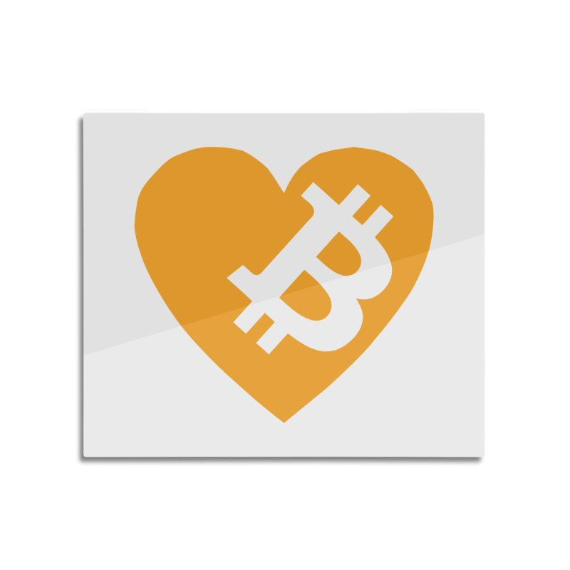 Love Bitcoin Home Mounted Acrylic Print by Crypt0 Clothing Shop