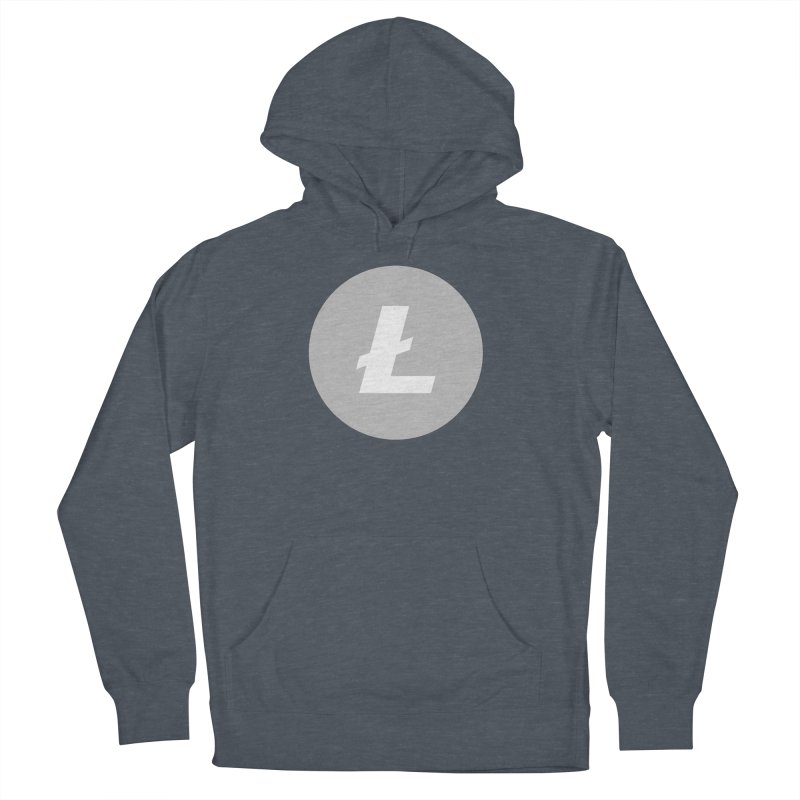 Litecoin Women's French Terry Pullover Hoody by Crypt0 Clothing Shop