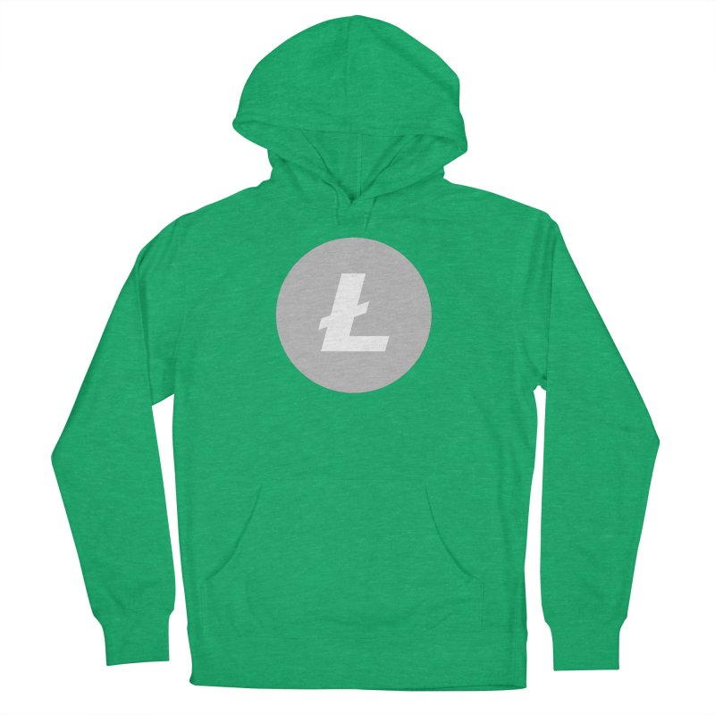Litecoin Men's French Terry Pullover Hoody by Crypt0 Clothing Shop