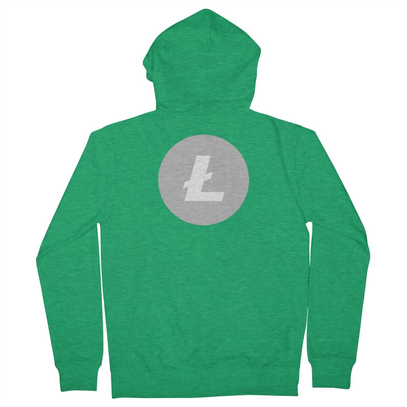 Litecoin Women's Zip-Up Hoody by Crypt0 Clothing Shop