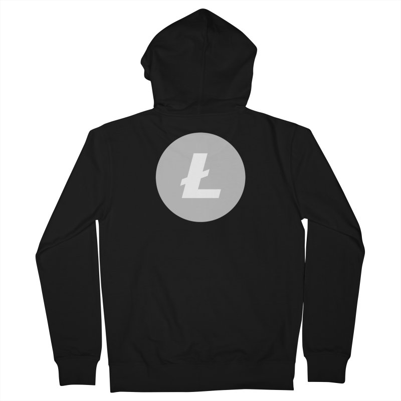 Litecoin Women's French Terry Zip-Up Hoody by Crypt0 Clothing Shop