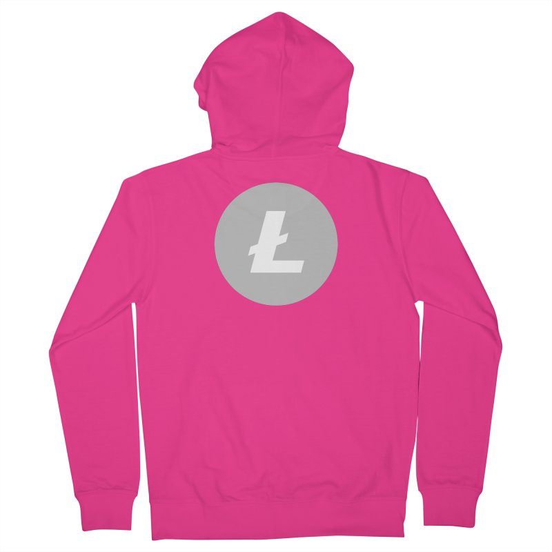 Litecoin Men's French Terry Zip-Up Hoody by Crypt0 Clothing Shop