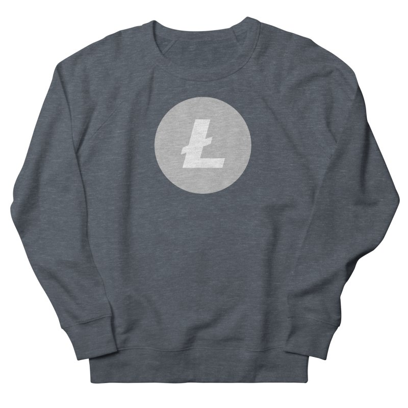 Litecoin Women's French Terry Sweatshirt by Crypt0 Clothing Shop