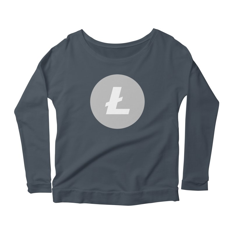 Litecoin Women's Scoop Neck Longsleeve T-Shirt by Crypt0 Clothing Shop
