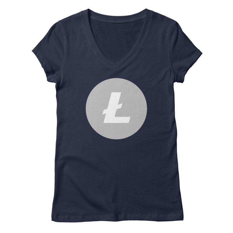 Litecoin Women's Regular V-Neck by Crypt0 Clothing Shop