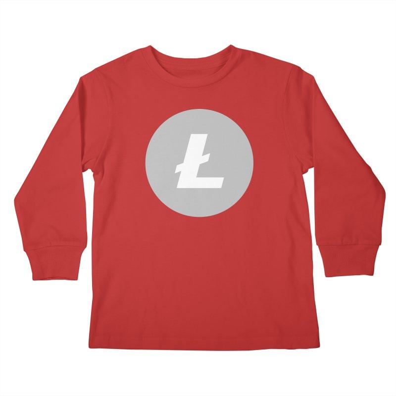 Litecoin Kids Longsleeve T-Shirt by Crypt0 Clothing Shop