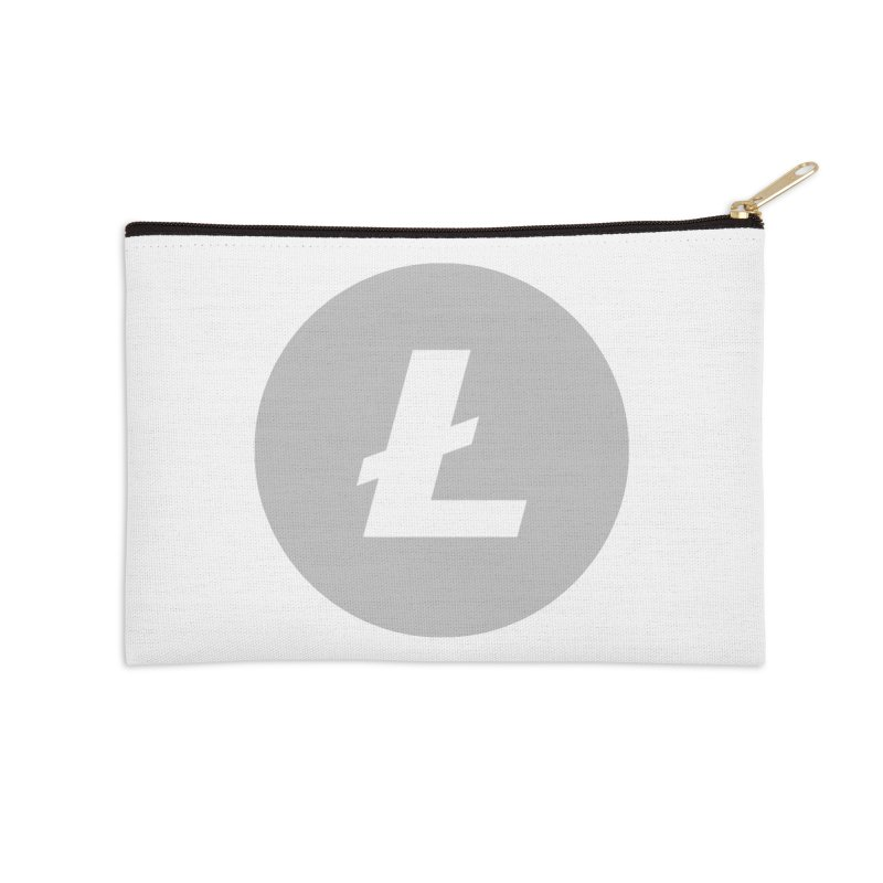 Litecoin Accessories Zip Pouch by Crypt0 Clothing Shop