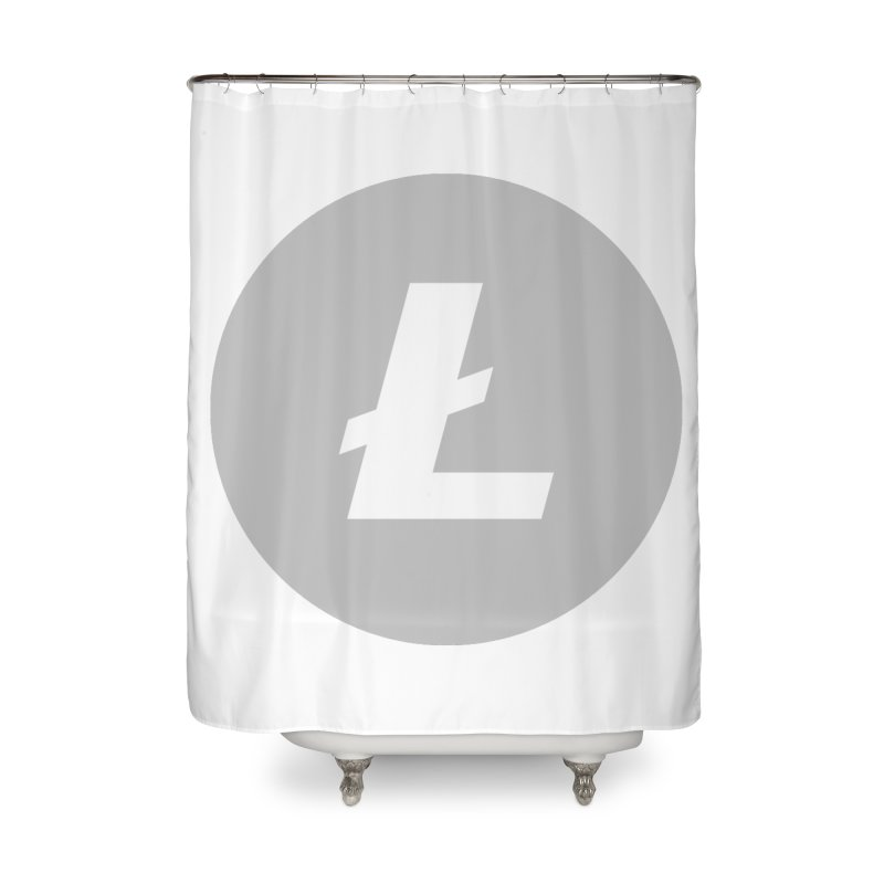 Litecoin Home Shower Curtain by Crypt0 Clothing Shop