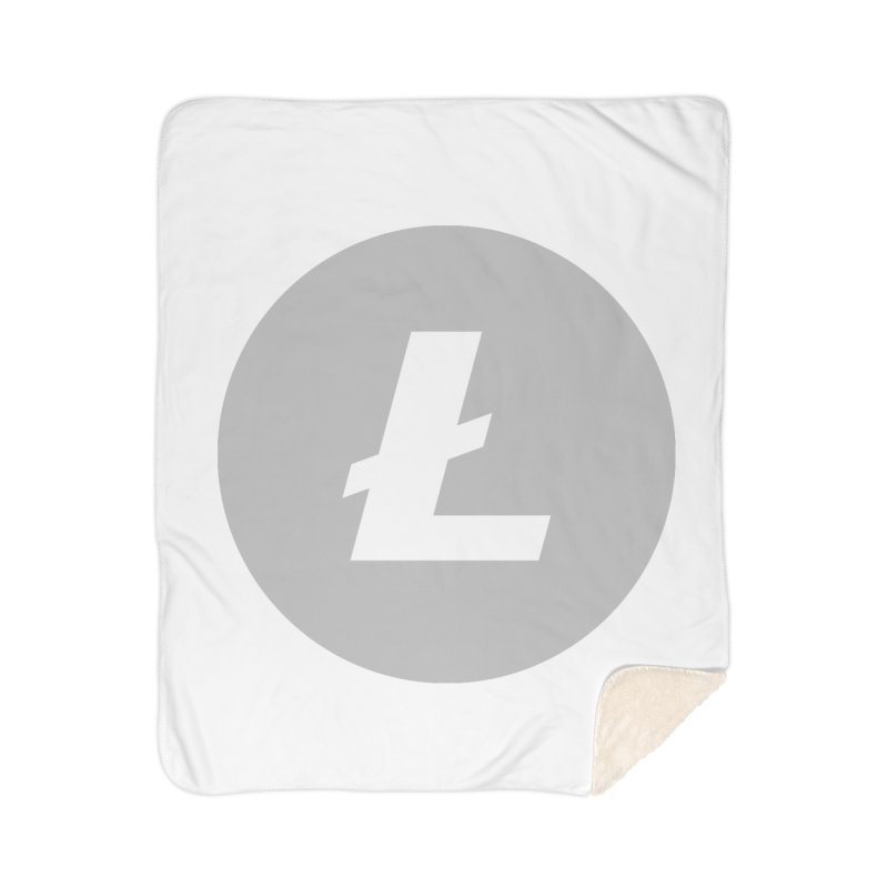 Litecoin Home Sherpa Blanket Blanket by Crypt0 Clothing Shop