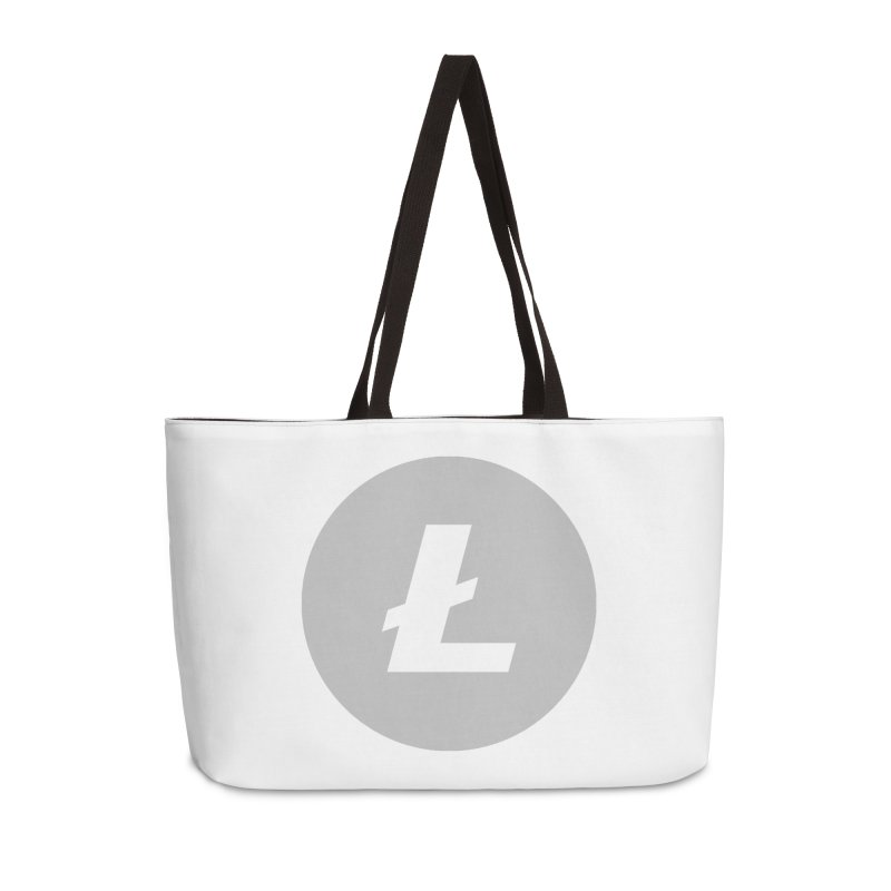 Litecoin Accessories Weekender Bag Bag by Crypt0 Clothing Shop