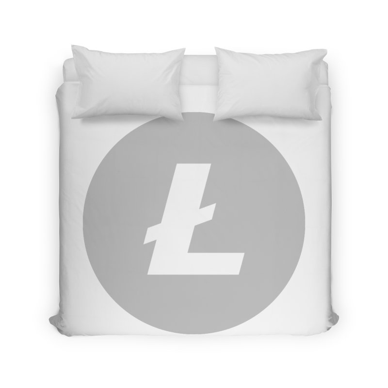 Litecoin Home Duvet by Crypt0 Clothing Shop